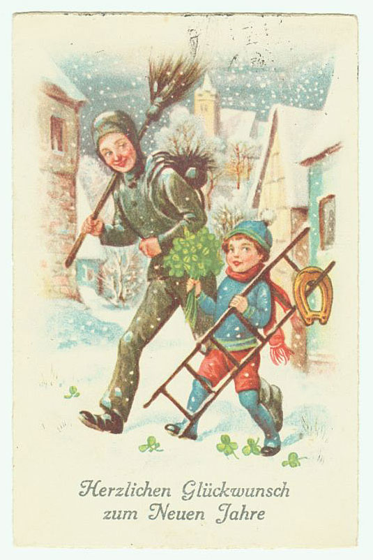 Прибалтийские новогодние открытки