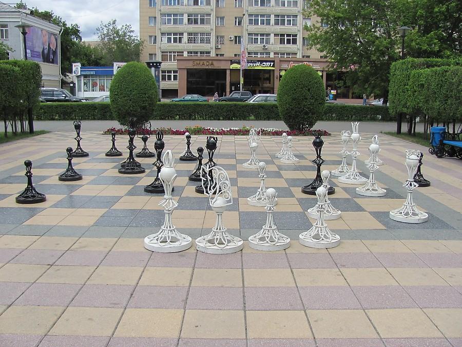 Стоять такие вот шахматные