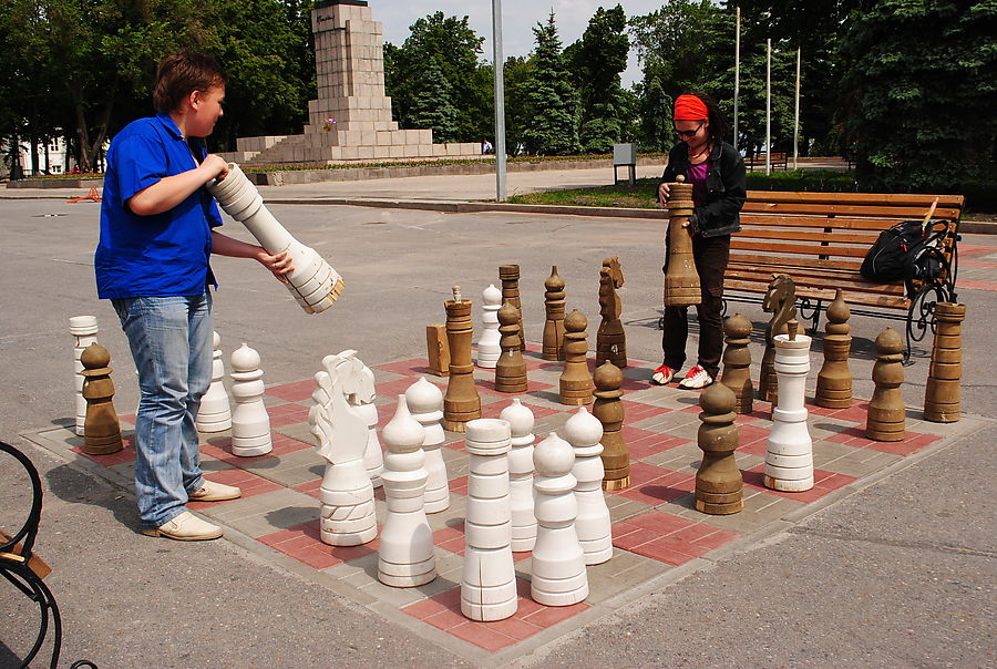 Уличные шахматы своими руками для дачи 43