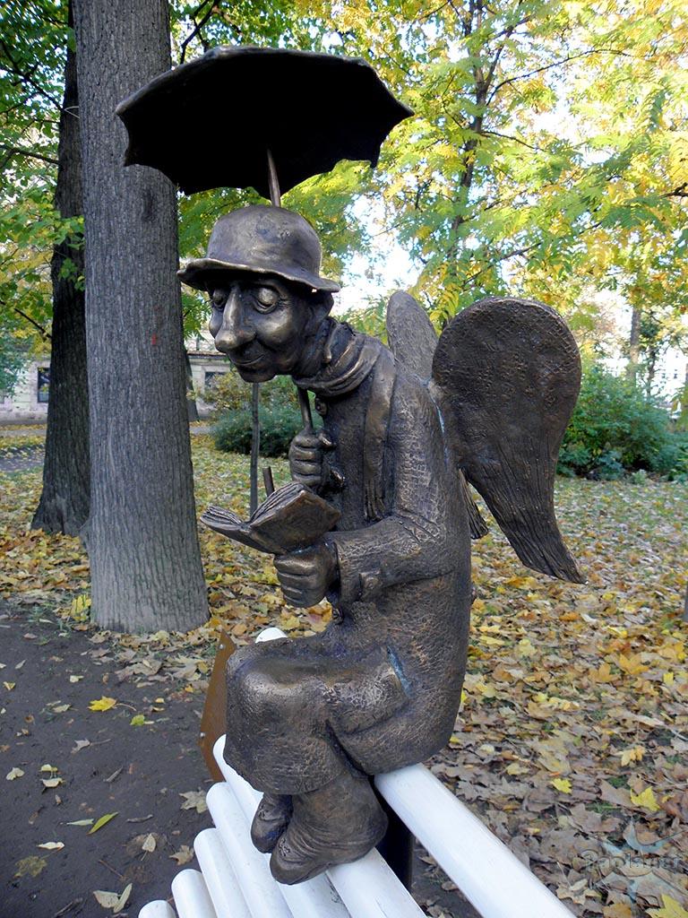 Памятник с ангелом Кисловодск Мраморный голубь Харабали