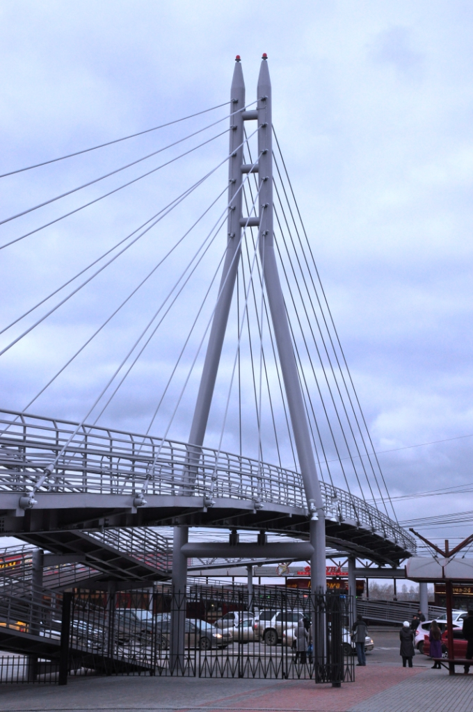 Вантовый пешеходный мост